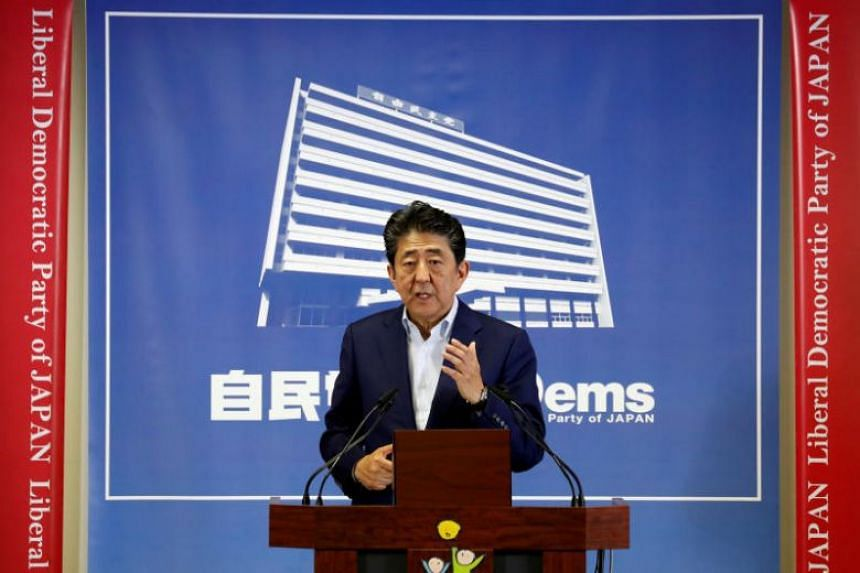 Japanese Prime Minister Shinzo Abe said Tokyo would like to fulfil what it sees as a unique role it has to play in reducing tension.