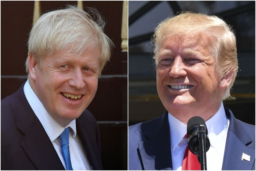 Both Boris Johnson (left) and Donald Trump are forces looking to shatter decades-old institutions that have bound together Western democracies.