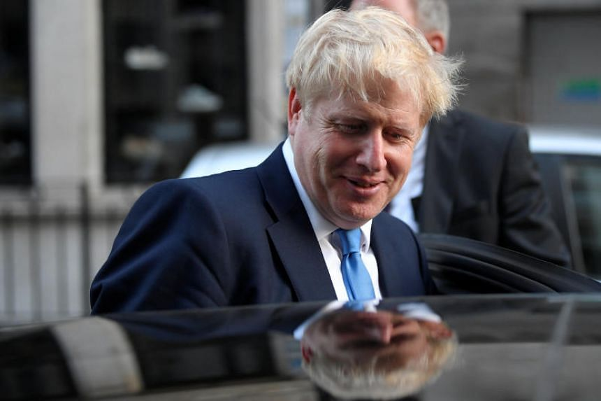 Incoming British Prime Minister Boris Johnson leaves a private reception in London on July 23, 2019.