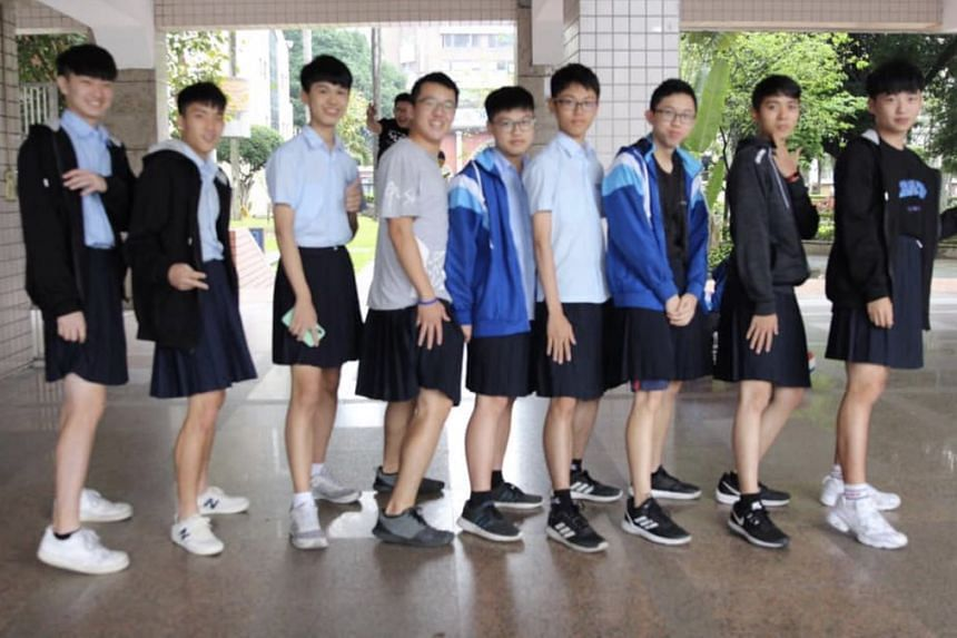 Both male and female students will be allowed to wear skirts at Banqiao Senior High School in Taiwan.