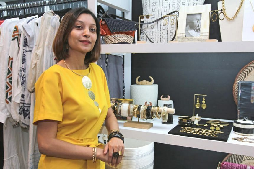 African jewellery designer Chetna Bhatt of Ashepa Lifestyle counts herself as part of the Fair Trade movement in sustainable fashion here, employing women in Kenya to craft jewellery on a fair wage.