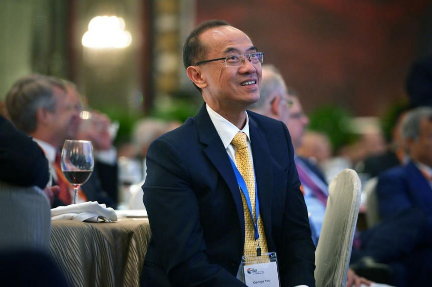 """Singapore's former foreign minister George Yeo said Hong Kong's society is going through a """"wrenching period""""."""