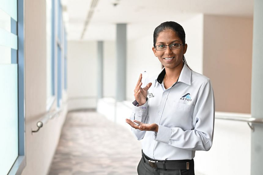 Aetos security officer Rajaletchumi Letchumanan was one of three officers who was awarded the Security Officer of the Year award yesterday.