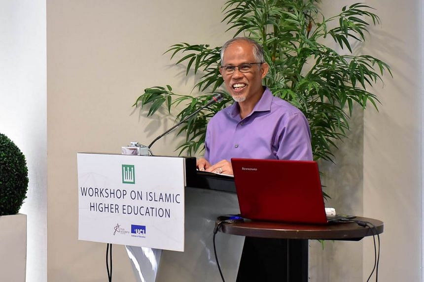 Minister-in-charge of Muslim Affairs Masagos Zulkifli at the inaugural Workshop on Islamic Higher Education at the Royal Plaza on Scotts yesterday.