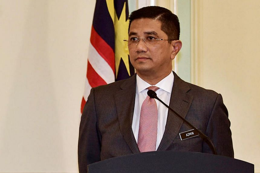 Gerakan president Dominic Lau was responding to speculation that PKR deputy president Azmin Ali (above) and several other leaders might jump ship amid a bitter row with PKR chief Anwar Ibrahim over a gay sex video said to implicate Datuk Seri Azmin.