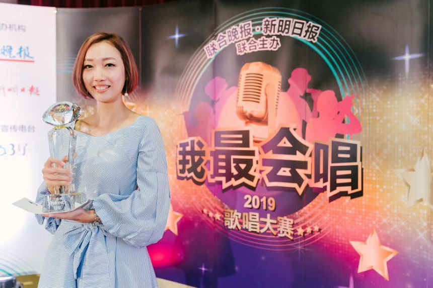 Ms Low Hui Zhen won the top prize at singing competition I am the SongMaster 2019.