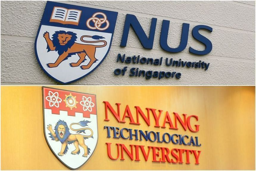 NUS and NTU are two of the three universities in a list by the Straits Times of the top 10 wealthiest charities by donations and their business subsidiaries. SUTD is also on the list.
