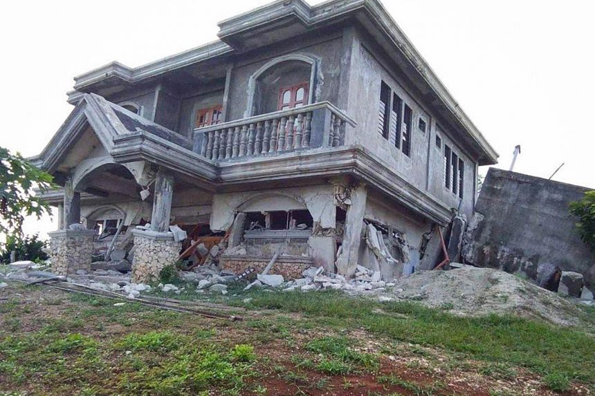 A damaged house after an earthquake in Itbayat, Batanes province, Philippines, on July 27, 2019.