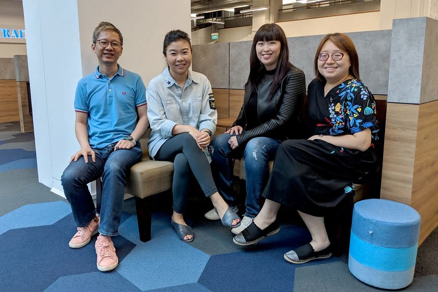 Life writers (from left) Boon Chan, Melissa Sim, Hedy Khoo and Ong Sor Fern.