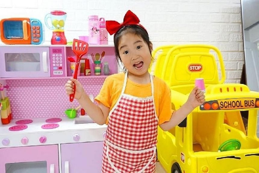 Boram, six, has a YouTube channel that reviews toys and another that shares her daily life. They earn an average $4.2 million monthly revenue.