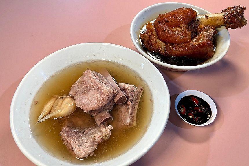 Bak kut teh and braised pork trotter