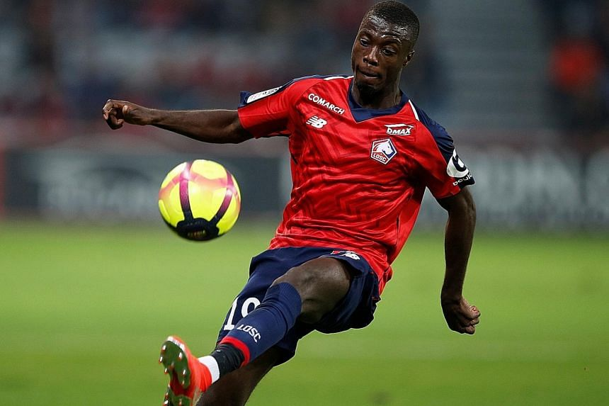 Lille winger Nicolas Pepe is also wanted by top clubs like Bayern Munich, Manchester United and Napoli after notching 22 goals and 11 assists in Ligue 1 last season.