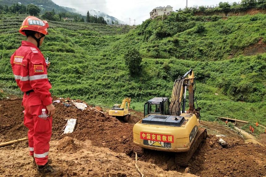 Official news agency Xinhua said on July 27 that 40 people have been rescued from the site, according to the local emergency rescue command.