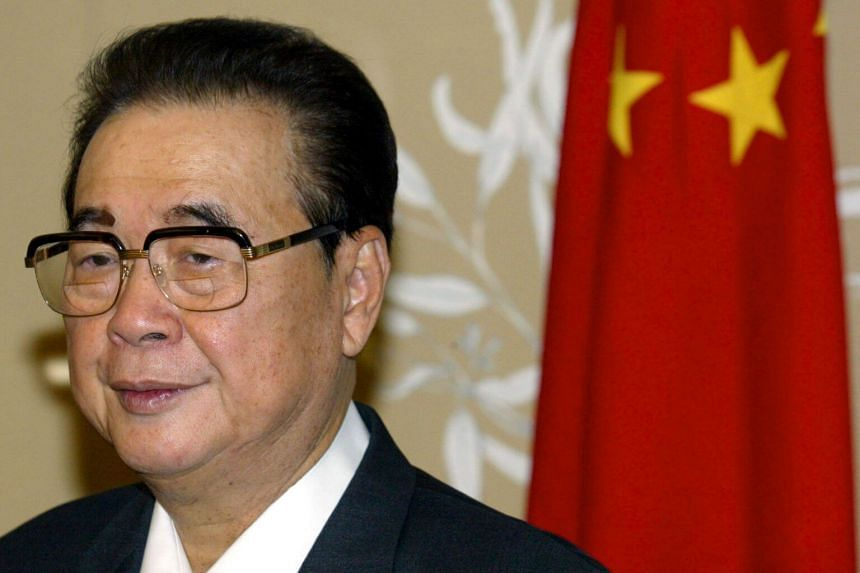 Li Peng served as premier from 1987 to 1998, and as chairman of the National People's Congress, China's Parliament, from 1998 to 2003.