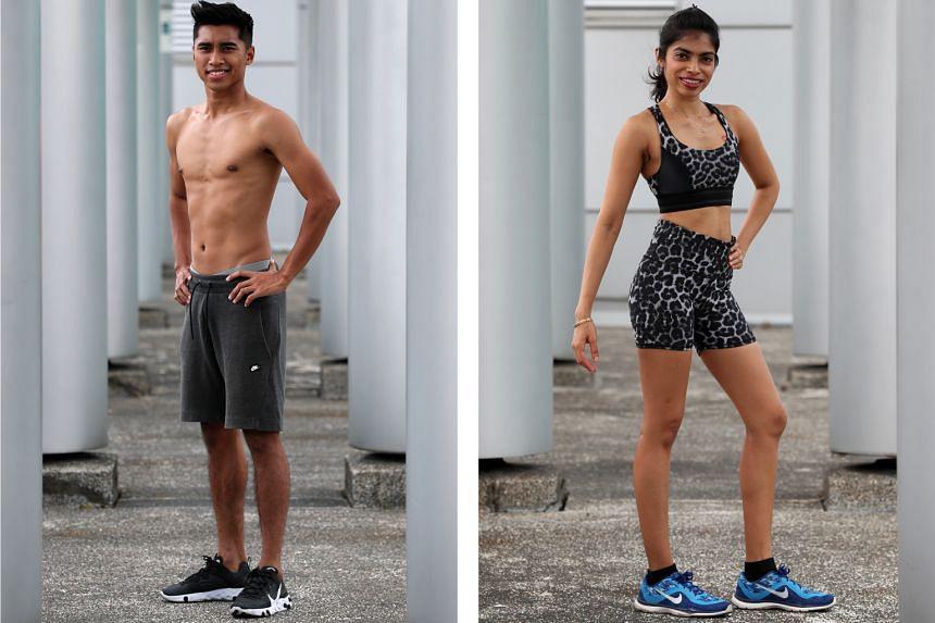Left: Ammirul Emmran Mazlan, 24. Right: Radhika Shanmugam, 34.