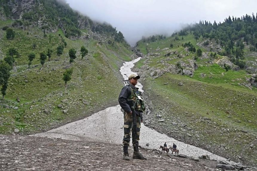 Officials said the movement of troops - set to rise to 20,000 - was to relieve exhausted personnel deployed since local civic polls last year and now monitoring an annual Hindu pilgrimage.