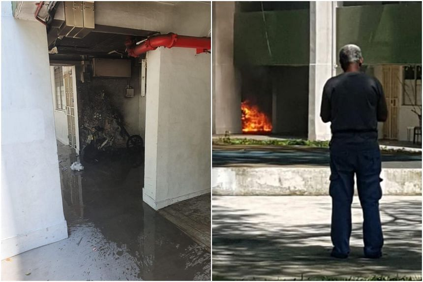 The fire was put out by residents who threw buckets of water to control the flames.