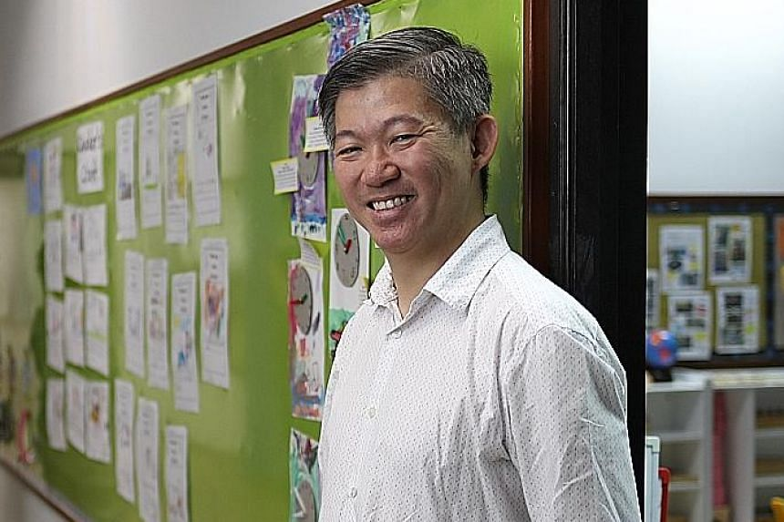 """Mr Roland Tan, director of Charis Montessori, said he sees his work as an avenue to make church pre-schools """"relevant"""" again."""