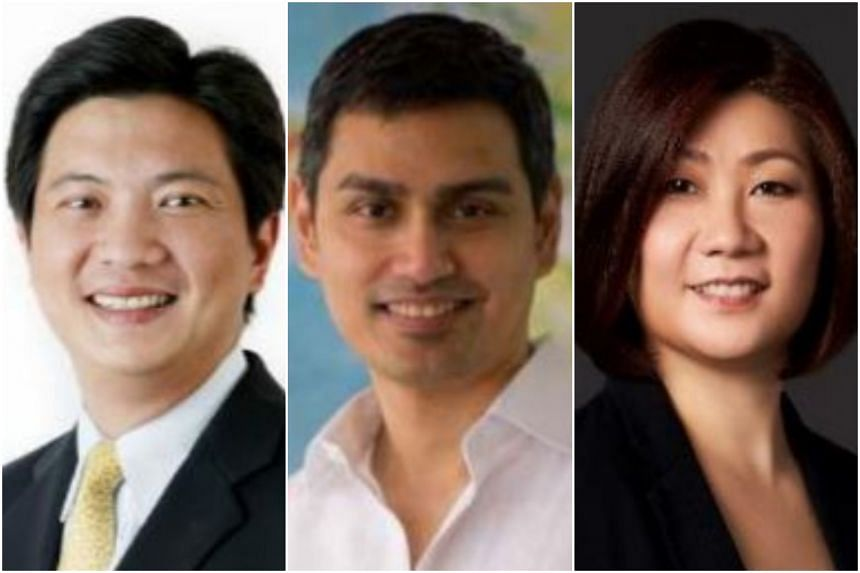 Singapore Land Authority reappointed  Yeoh Oon Jin (left) as the deputy chairman while Eric Sandosham, founder and partner of Red & White Consulting Partners, and Angeline Poh, chief corporate development officer at Mediacorp, will join the Singapore