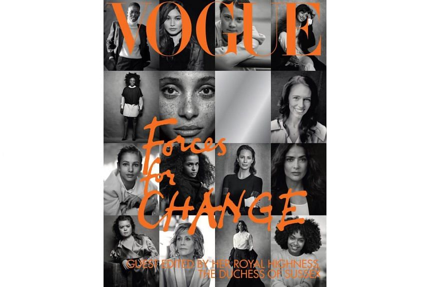"""The cover of British Vogue's September issue, entitled """"Forces for Change""""."""