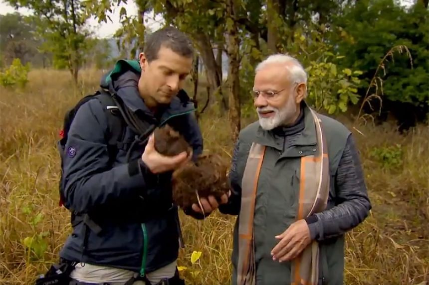 Indian Prime Minister Narendra Modi said he had grown up in nature and the programme with Bear Grylls was a chance to showcase India's rich wildlife.