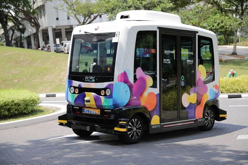 The NUSmart shuttle will be plying a 1.6km route between Heng Mui Keng Terrace and Business Link for one year to determine the commercial viability of such a service.