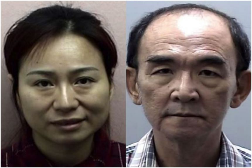 Chinese national Zheng Guiling, 40, and Lim Peng Boon, a 64-year-old Singaporean man, were convicted of offences under the Immigration Act.