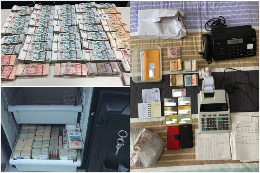Officers seized cash amounting to about $1.74 million, computers, mobile phones and documents such as electronic betting records.