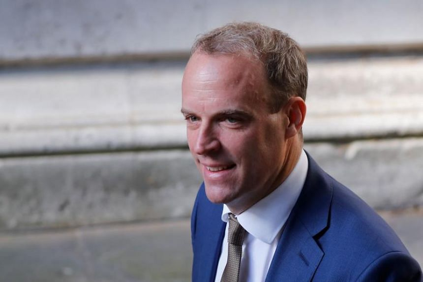 """British Foreign Secretary Dominic Raab, an avowed Brexiter, said the """"undemocratic"""" Irish backstop had to go from the Withdrawal Agreement."""