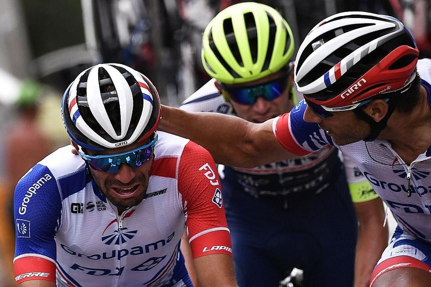 Despite the double heartbreak for Thibaut Pinot (above), who withdrew in Stage 19 with injury, and Julian Alaphilippe running out of gas at the Tour de France's penultimate stage, the French duo's performance has revived hopes of a long-awaited home-grown