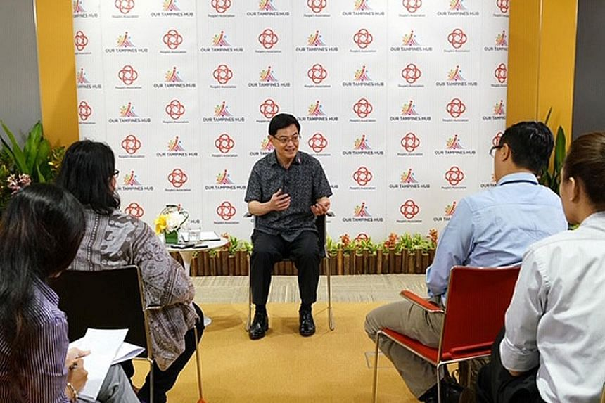 """Deputy Prime Minister Heng Swee Keat speaking with Malaysian journalists last Saturday. He stressed that it was important not to fritter away energy on disagreements, and said what Singapore needs is a """"certain political maturity"""" in which people are"""