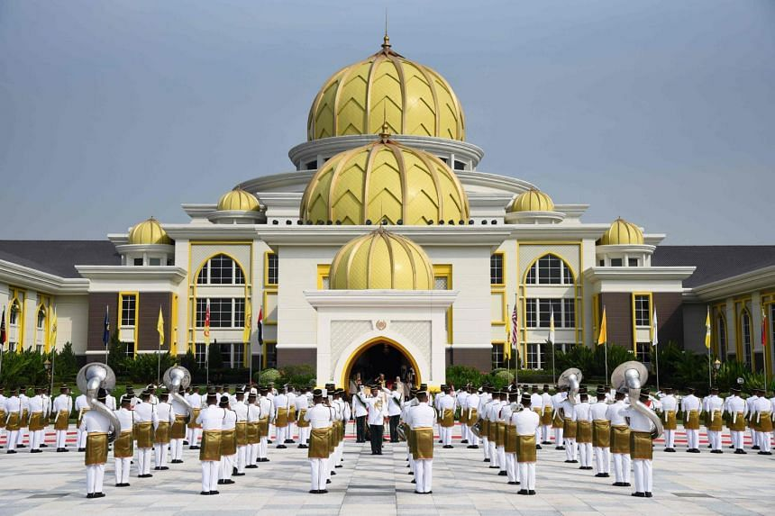 A view of the National Palace during the royal coronation of Malaysia's Sultan Abdullah.