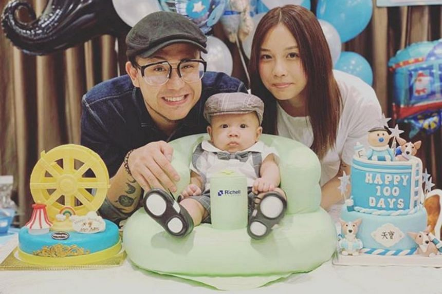 Steven Cheung posted on social media that he is getting married to a fan, model Au Man-man, and he shared a photo of them celebrating their baby's 100 days.