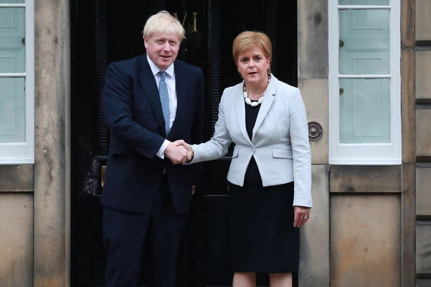 Image result for Sturgeon thinks PM Johnson is pursuing a no-deal Brexit
