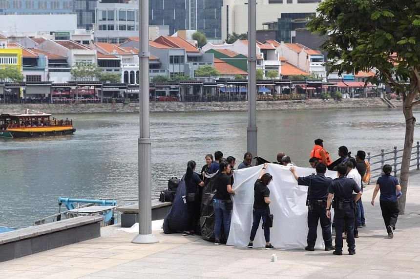 The body was found floating in the Singapore River on July 30, 2019.