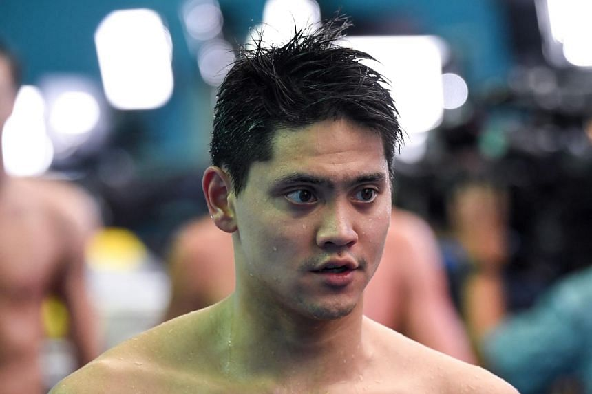 Singapore's Joseph Schooling after competing in a heat for the men's 4x100m freestyle relay event at the 2019 World Championships in Gwangju, South Korea, on July 21, 2019.