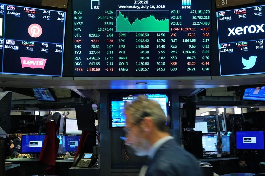 The S&P 500 Index fell for the second time in three sessions after reaching a record on July 26, 2019.