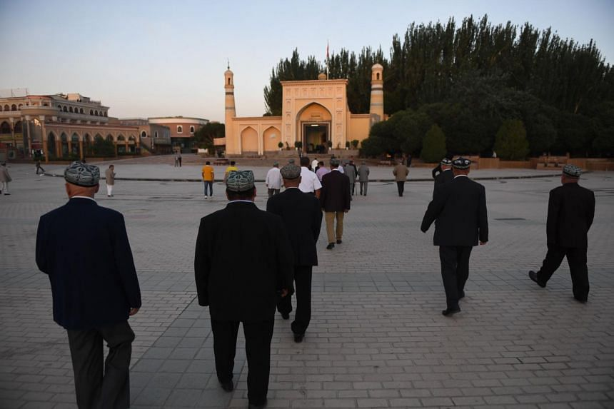Uighur men in Kashgar, China's western Xinjiang region.