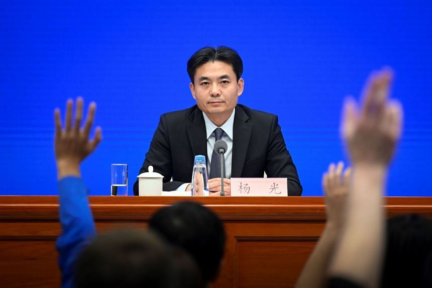 """Hong Kong and Macau Affairs Office spokesman Yang Guang speaking at a media briefing yesterday, where he accused those who had attacked government offices of """"evil and criminal acts"""", and said such actions had caused serious damage to the city'"""