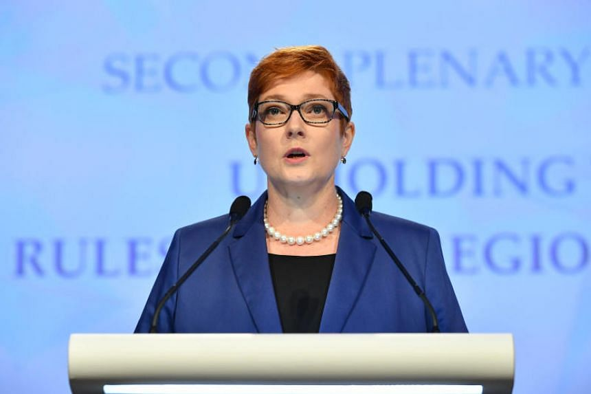 Australian Foreign Minister Marise Payne did not say what military infrastructure the United States aimed to build.