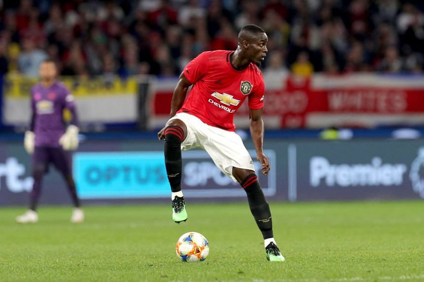 Bailly in action during a friendly match against Leeds United.