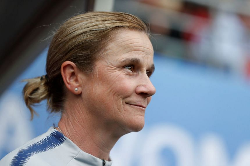 Jill Ellis before a match against Spain during the 2019 Women's World Cup.