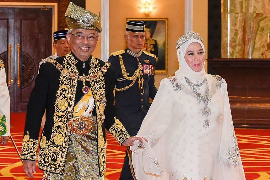 The ceremony at the Istana Negara in Kuala Lumpur during the royal coronation of Malaysia's 16th king - Pahang's Sultan Abdullah Ri'ayatuddin - was steeped in royal customs and tradition. It was attended by members of Malaysia's nine royal houses dre