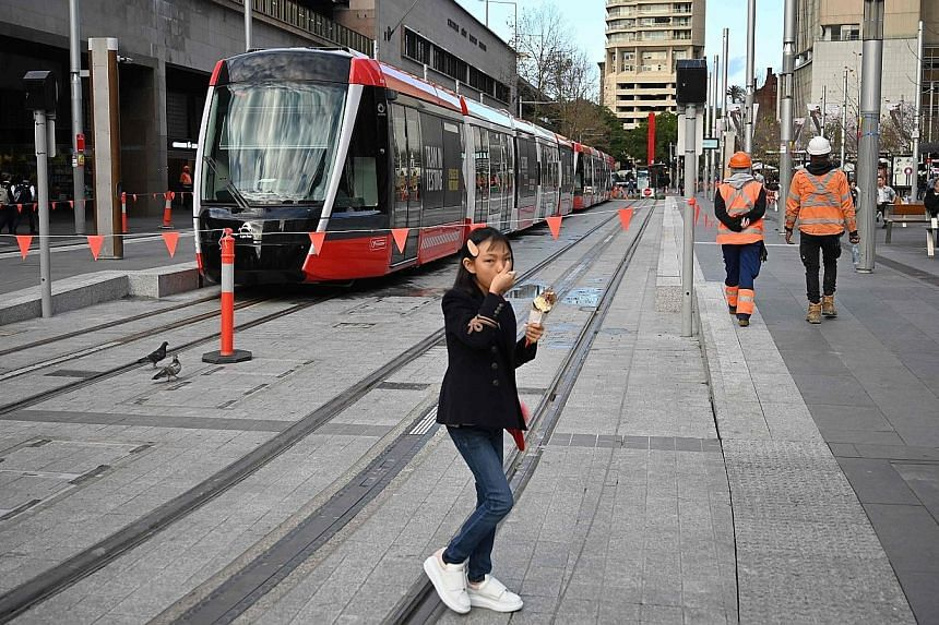 After three years of delay, a light rail tram finally arrived at Circular Quay when it reached the end of the 12.7km line for the first time in Sydney yesterday. Cost blowouts, legal disputes, delays to construction and major disruption to businesses