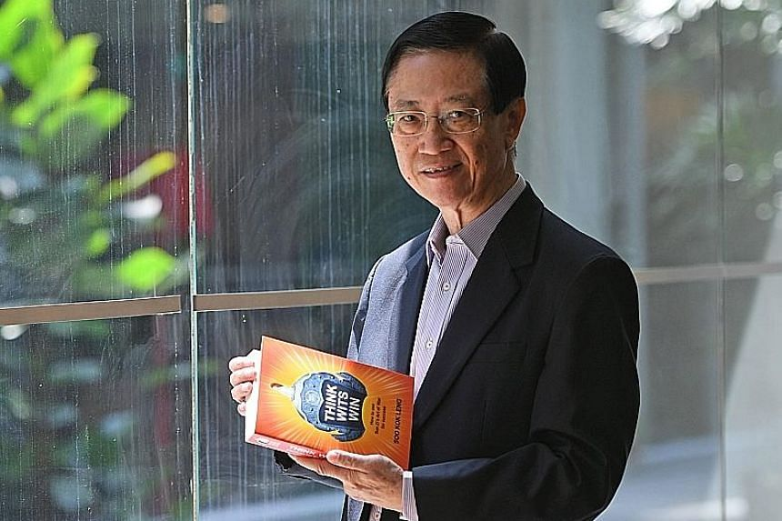 Mr Soo Kok Leng with his book, Think Wits Win: How To Use Sun Zi's Art Of War For Success. The 67-year-old has kept himself busy since retiring from full-time work at age 50. He sits on the boards of 15 companies and does consultancy work.