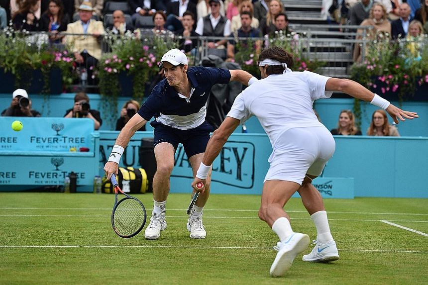 Andy Murray partnered Spain's Feliciano Lopez to the men's doubles title at Queen's Club last month. The 32-year-old Scot will pair up with his brother, Jamie, to take on Wimbledon runners-up Nicolas Mahut and Edouard Roger-Vasselin today at the Citi