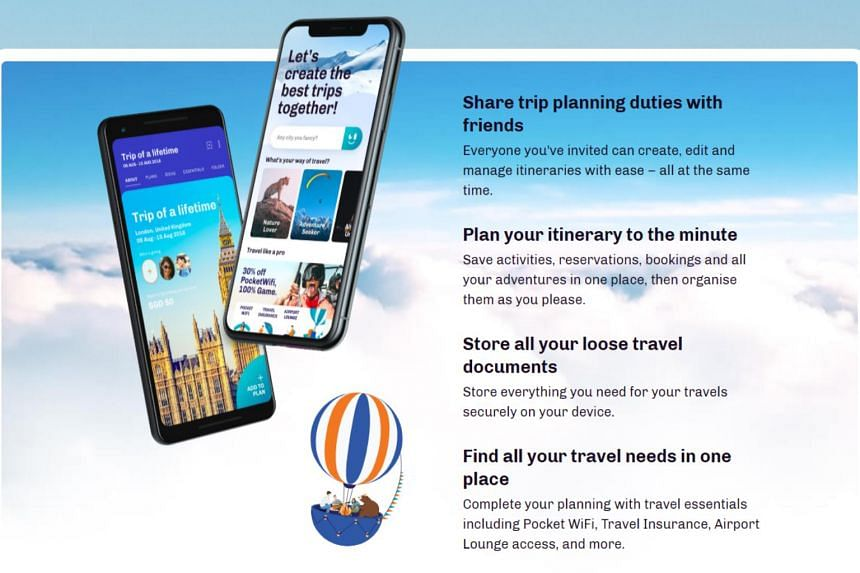 A screenshot of Sats' revamped version of its Ready To Travel app. It adds a global bag-locate function which helps users track their lost bags anywhere worldwide, trip planning functions, as well as the option to book 400 airport lounges in nearly 1
