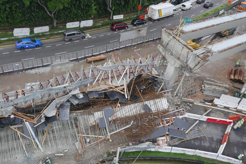 The collapse of the Pan-Island Expressway viaduct in July 2017 resulted in the death of a Chinese worker. Ten other workers were hurt - two seriously - during the incident.