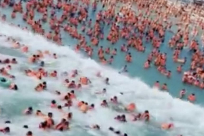 A preliminary investigation showed that a malfunction in the wave pool's control room had caused waves bigger than designed, leading to the injuries.