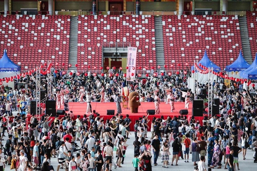 The Japan Summer Festival is organised in collaboration with the Japanese Association of Singapore and aims to harness better cultural understanding between both the Japanese and local communities. PHOTO: SINGAPORE SPORTS HUB